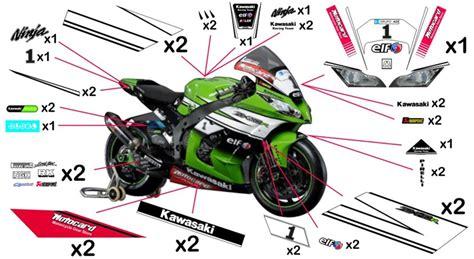 Sticker Kawasaki Racing by Stickers Kawasaki Racing Sbk 2014 Ninja Zx 10rr 2017 2018