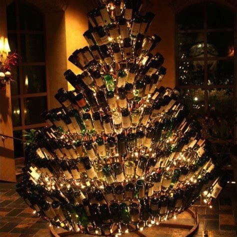 christmas tree with wine bottles christmas pinterest