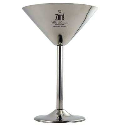 martini glass logo zim s logo stainless steel martini glasses zim s vodka