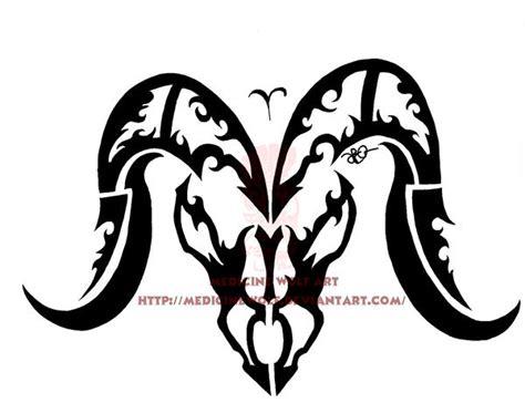 山羊图腾纹身手稿
