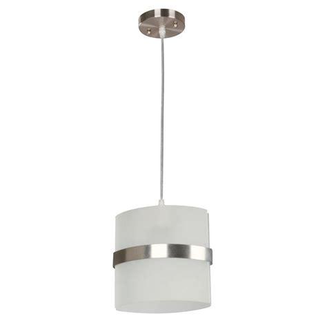 Hton Bay Kyneton 1 Light Brushed Nickel Mini Pendant Brushed Nickel Mini Pendant Light