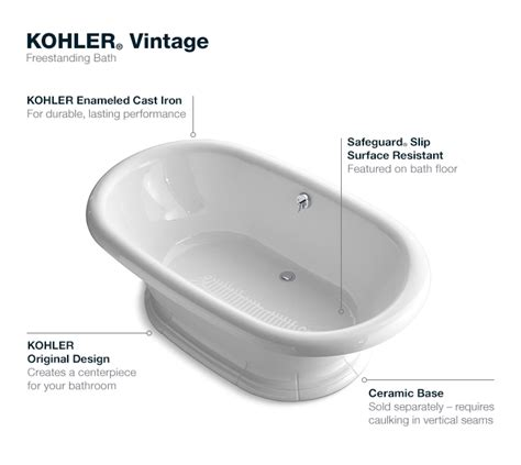 home depot bathtub installation kohler vintage 6 ft center drain free standing cast iron