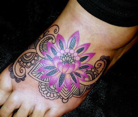 lotus tattoo on foot 72 best flower tattoos on foot