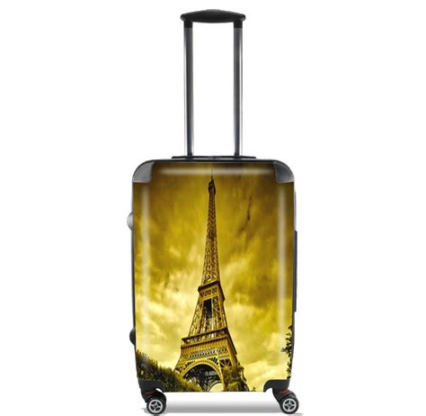 valigie cabina torre eiffel di notte parigi formato cabina valigia