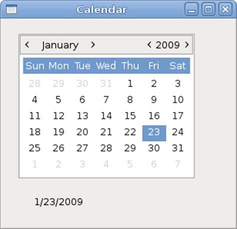 G Calendar Widget Widgets Ii In Gtk