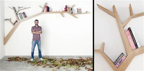 tree branch bookshelf nuji