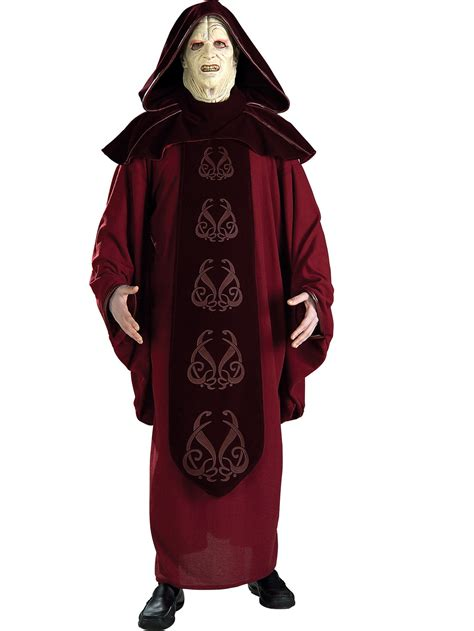 wars supreme costumes mens wars supreme edition emperor palpatine costume