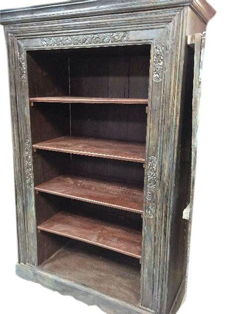 antique indian  doors frame bookcase hand carved book