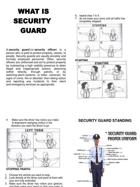 Security Guard Handbook Security Guard Hand