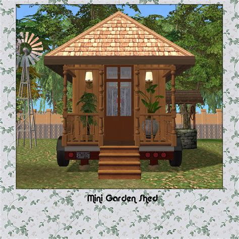 Mini Garden Shed by Mini Garden Shed Downloadable Woodworking Plan Shed