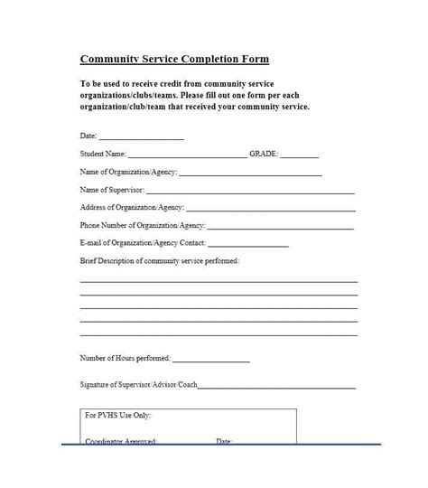 community service letter 40 templates completion