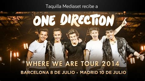 entradas de one direction c 243 mo conseguir tu entrada para ver los conciertos de one