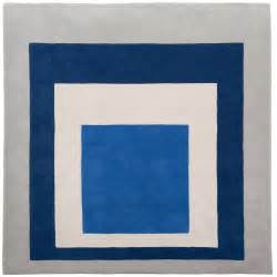 Overdyed Blue Rug Homage To The Square Rug By Josef Albers At 1stdibs