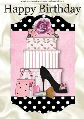 imagenes happy birthday girl shoes handbag with gifts in polkadot frame a4