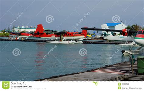 pontoon plane for sale pontoon planes moored at a jetty stock photo image 25755750