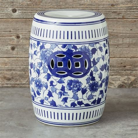 williams sonoma blue and white 3 piece ceramic canister blue white ceramic garden table williams sonoma