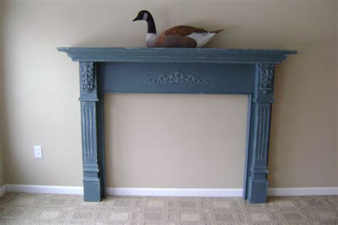 Blue Mantle Fireplaces aqua blue fireplace mantle