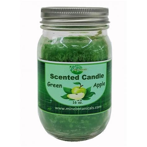 apple scents green apple scented candle