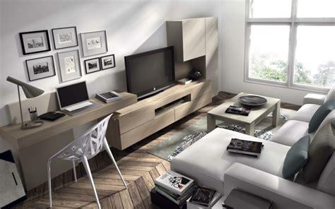 schreibtisch im wohnzimmer lösung wohnwand mit schreibtisch als arbeitsplatz im wohnzimmer