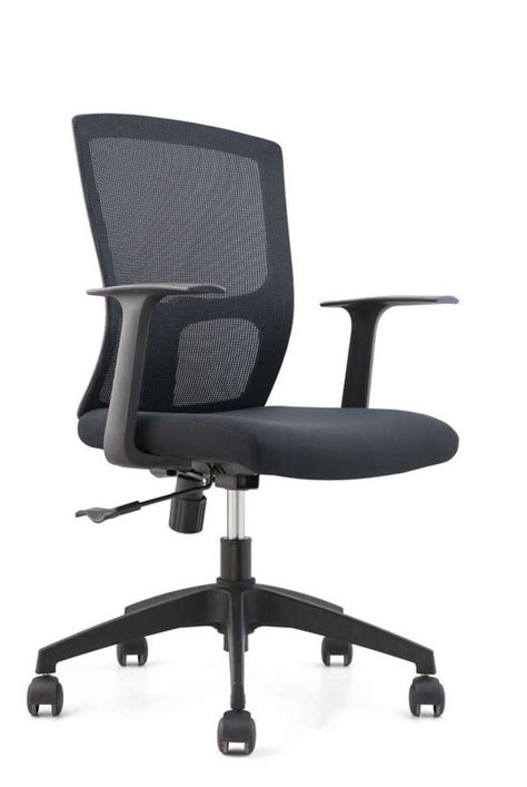 cheap black armchair cheap black mesh staff office chair nylon base swivel