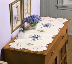 lace violet dresser scarf table runner polyester bedroom