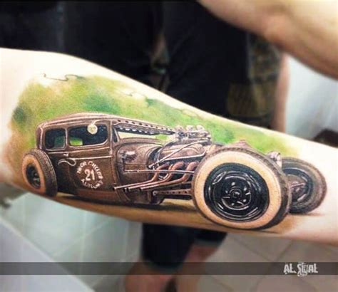 tattoo old school car forearm page 7 large large art gallery inked one