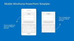 Powerpoint Wireframe Template by Mobile Wireframe Powerpoint Template Slidemodel