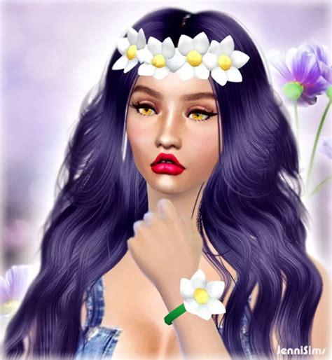 jenni sims accessory bow headband sims 4 downloads jenni sims sets of accessory sunflower bracelet dual