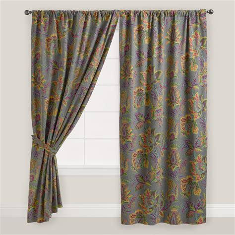 curtains world market sahara bloom floral tab top curtain world market