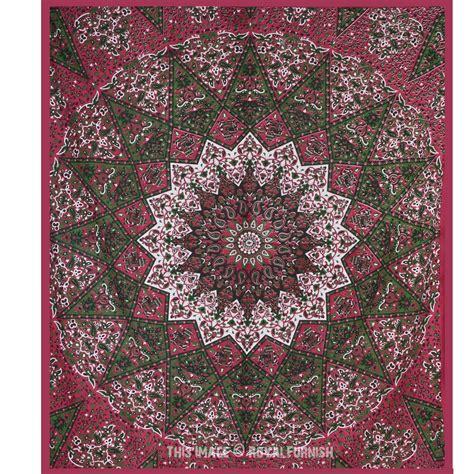 tapestry bedding big maroon indian star mandala wall tapestry bohemian bedding bedspread royalfurnish com