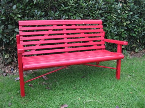 red patio bench garden ideas 5 uses of red in garden design peter