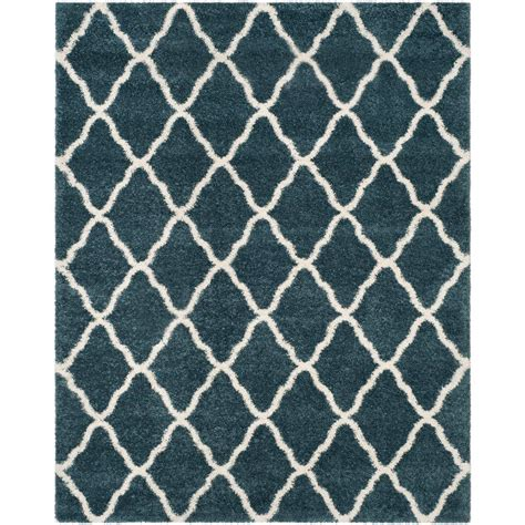 slate blue rug safavieh hudson shag slate blue ivory 8 ft x 10 ft area rug sgh283l 8 the home depot