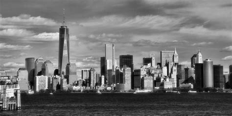 Manhattan Wall Mural new york city skyline black and white photograph by dan sproul
