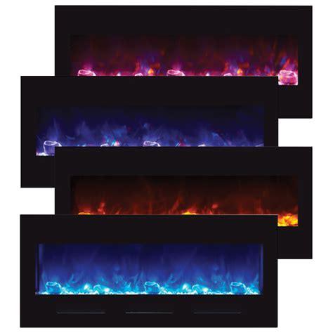 Fireplace Mood amantii 50 electric fireplace with black glass surround no mood light