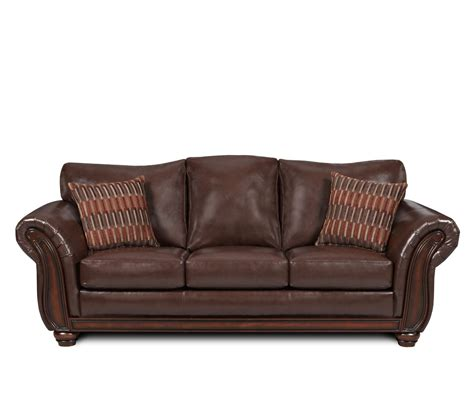 brown settee sofas leather sleeper sofas dark brown lower sofa