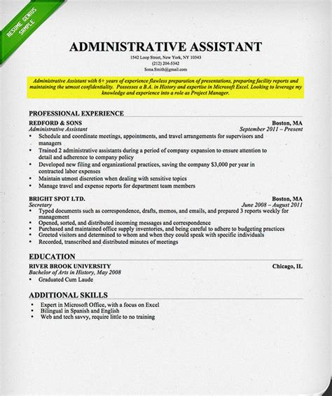career objective for experienced it professional resume exles one page resume templates outline free