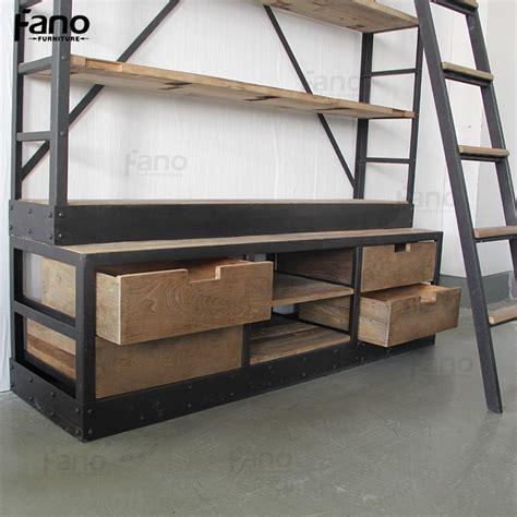 lade ferro mobili 225 antigo estante de metal de ferro industrial do