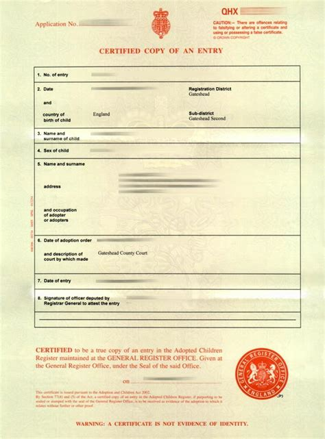 birth certificate template uk birth certificate uk sle images certificate