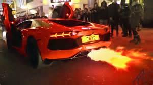 Lamborghini With Flames Yiannimize S Lamborghini Aventador Flamethrower In
