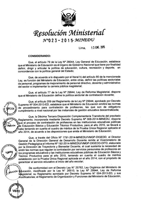 normas de contratacion docente 2016 minedu norma t 233 cnica para contrato docente 2015 minedu