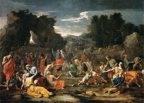 A Gathering by File Poussin Nicolas The Jews Gathering The Manna In
