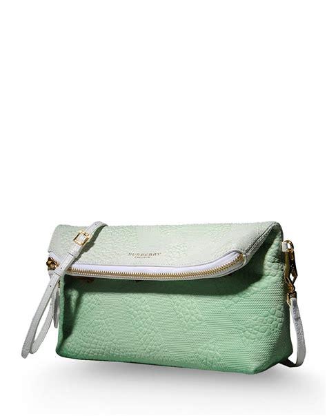 burberry prorsum medium leather bag in green light green