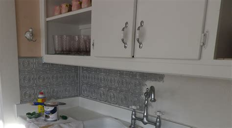 painting a backsplash how to paint a faux pressed tin tile backsplash artifact