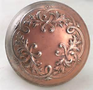 embossed copper door knobs for modern and antique doors