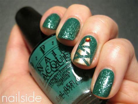 christmas tree nails nails pinterest