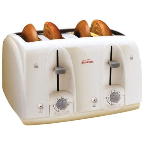 Best Affordable Toaster Cheap Sunbeam 3823 100 4 Slice Wide Slot Toaster White