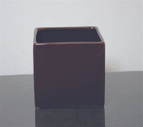 5 Square Vase by Cr Sbr555 Ceramic Cube Vase 5 Quot X 5 Quot X 5 Quot Brown 12 P C