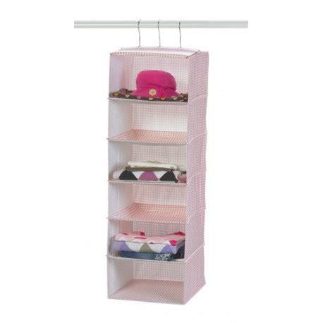 Pink Hanging Closet Organizer by Pink Lattice Six Shelf Hanging Storage