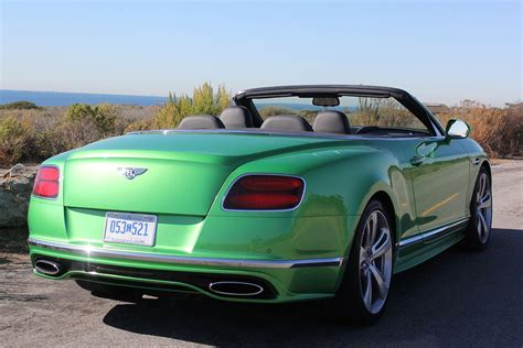 green bentley convertible 2016 bentley continental gtc speed convertible review