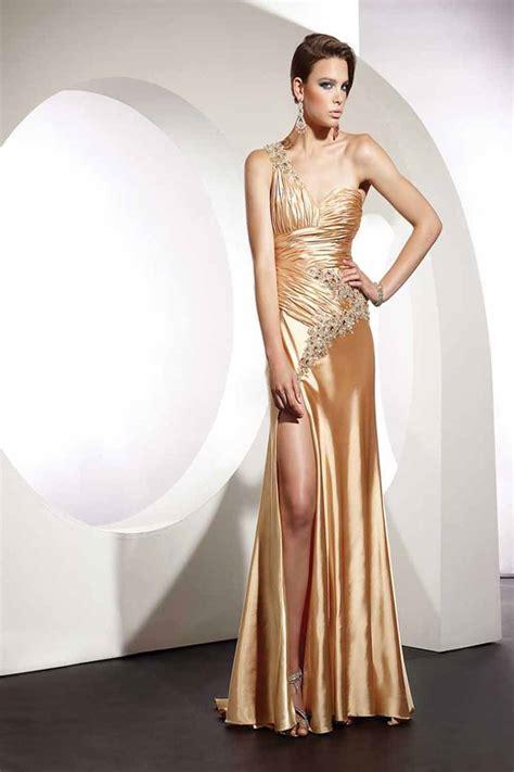 Elegancy Gold Dress wedding dresses couture prom dresses 2011